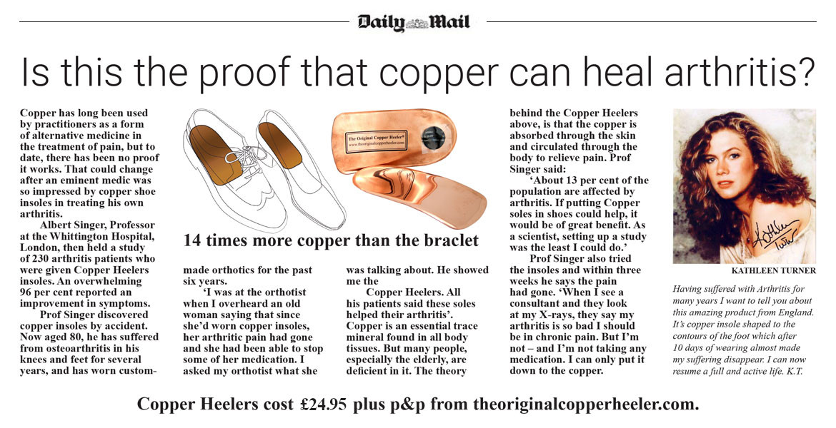 Is this proof that copper can heal arthritis