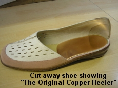 Cut away shoe showing