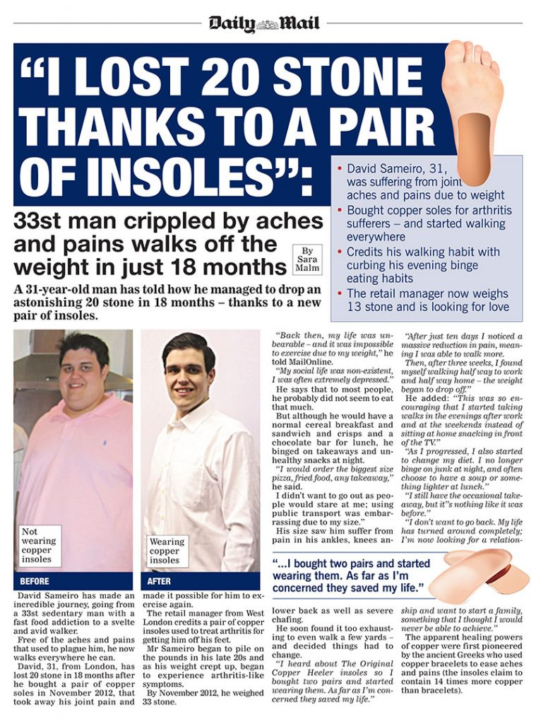 I lost 20 stone thanks to a pair of insoles